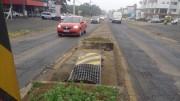 Veículo derruba lombada  eletrônica na Rodovia SC-445
