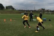Grupo Carvoeiro realiza treino forte no CT