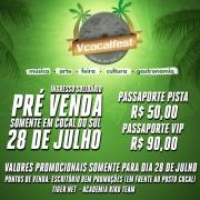 Venda de passaporte solidário para shows nacionais da V Cocalfest