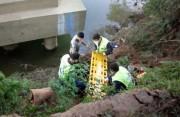Policial Militar de folga pula em rio para salvar vida de gestante