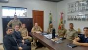 Tenente-coronel Dimitri se reúne com delegado regiona