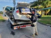 PRF de Paulo Lopes apreende veículo de Criciúma com 178 quilos de maconha