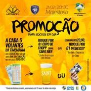 Promoção de ingressos para jogo do Criciúma contra Cianorte