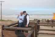 Benedet visita local da primeira etapa de revitalização da orla
