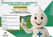 Siderópolis inicia campanha de vacinação contra a paralisia e sarampo