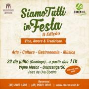 "Grupo folclórico inspira próximo tema do ""Siamo Tutti in Festa"""