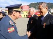 Moreira participa da solenidade de promoção do Corpo de Bombeiros