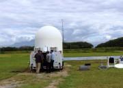 Defesa Civil de SC faz teste com radar meteorológico móvel