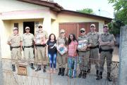 19º BPM de Araranguá realiza ação solidária