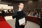 Governador Moisés e vice Daniela Reinehr são diplomados