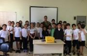 Alunos da Escola Maria da Glória participam da Semana do Trânsito
