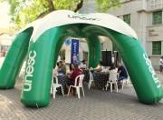 Unesc participa de atividade de conscientização da campanha Maio Roxo