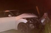 Três pessoas ficam feridas em acidente na SC-485