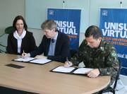 Exército Brasileiro retoma parceria com a Unisul