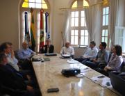 Unisul recebe presidentes do Grêmio e do Atlético de Tubarão