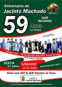 Aniversário de Jacinto Machado terá show com Big Time Orquestra e JJSV