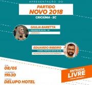 Partido Novo promove evento de apresentação em Criciúma