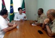 Salvaro e PM se reúnem para discutir melhorias na segurança