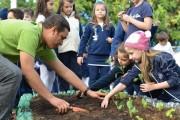 Alunos do Colégio Marista constroem horta comunitária
