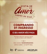 Dia dos Namorados terá Cinema em Dobro no Criciúma Shopping