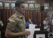 Policial é homenageado na Câmara em Morro da Fumaça