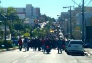 PM  de Araranguá garante a segurança dos manifestantes