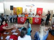 Principais lideranças políticas de SC visitam Lauro Müller