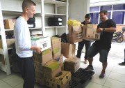 Reciclagem de materiais da Udesc beneficia fundação