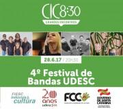 Quarto Festival de Bandas da Udesc será realizado em 28 de junho