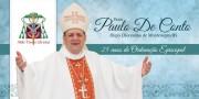 Dom Paulo De Conto celebra jubileu episcopal em Criciúma