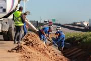 DNIT/SC avança na construção de calçadas em Pescaria Brava