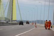DNIT/SC faz trabalhos de conservação na ponte Anita Garibaldi