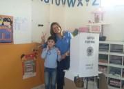 Dalvania Cardoso (PP) votou acompanhada da família