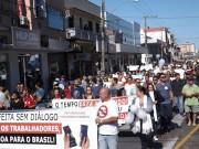 Caminhada dos direitos dos trabalhadores parou BR-101 em Araranguá