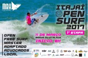 Local da 1ª etapa do Circuito Itajaí Open de Surf 2017