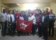 PT de Araranguá recebe visita do deputado Pe. Pedro Baldissera