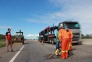 DNIT inicia melhorias em pavimento da BR-101 em Laguna
