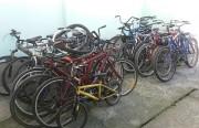 Polícia Civil está fazendo descarte de bicicletas apreendidas