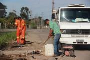 DNIT/SC faz trabalhos em duas travessias urbanas