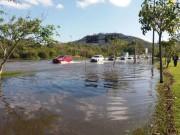 Maré alta causa inundação em áreas costeiras de SC