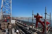 Começa a substituição de vigas da Ponte Hercílio Luz
