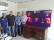 DME de Nova Veneza ganha placar eletrônico móvel
