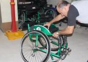 Cadeiras são reformadas para atletas do Handebol sobre rodas