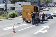 Prefeitura de Criciúma revitaliza pintura de vias municipais