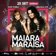 Pela primeira vez Maiara e Maraisa em Criciúma