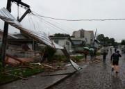Municípios são atingidos por vendaval em Santa Catarina