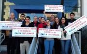 Bancários da Caixa protestam por nenhum direito a menos