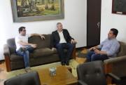 Prefeito e vice eleitos de Urussanga visitam Prefeitura