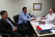 Deputado Comin recebe prefeito eleito de Forquilhinha