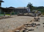 Prefeitura de Siderópolis refaz ruas de lajotas danificadas